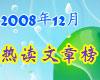 2008年12月51CTO热门文章排行榜