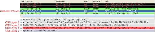 wireshark packet filter pane