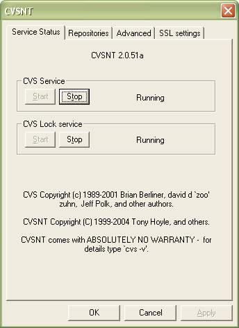 安装并启动CVSNT1