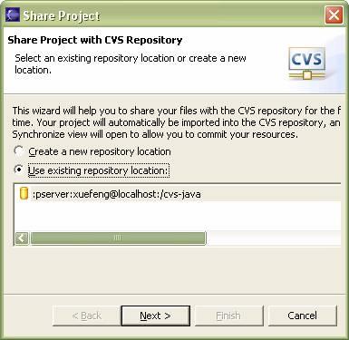 工程放到CVS服务器
