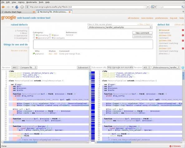 Groogle 是一个基于WEB的代码评审工具