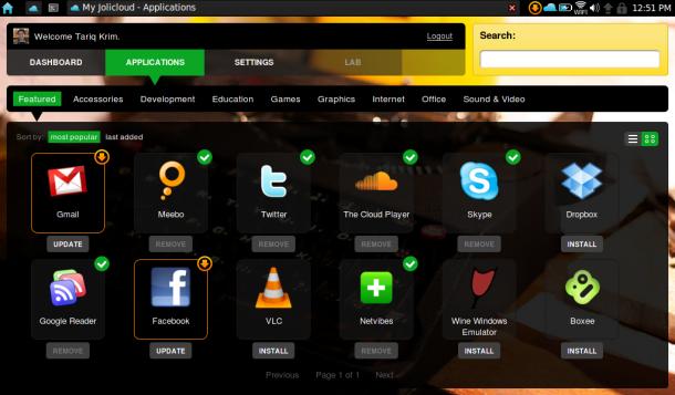 操作系统 上网 linux/1. Linux上网本操作系统,Jolicloud