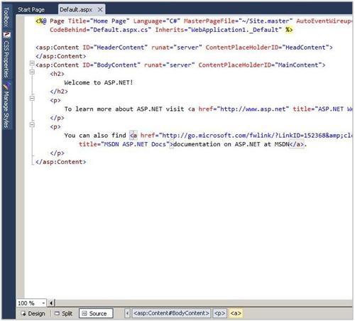 HTML Mode顶端的事件栏