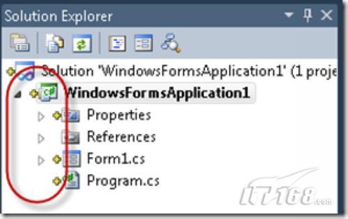 查看Solution Explorer中的文件