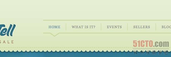 Show & Tell网站在其导航栏上使用letter-spacing的效果