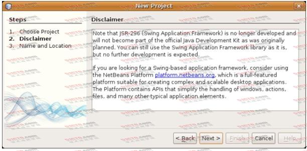 NetBeans 6.9新建Swing应用程序时的警告信息