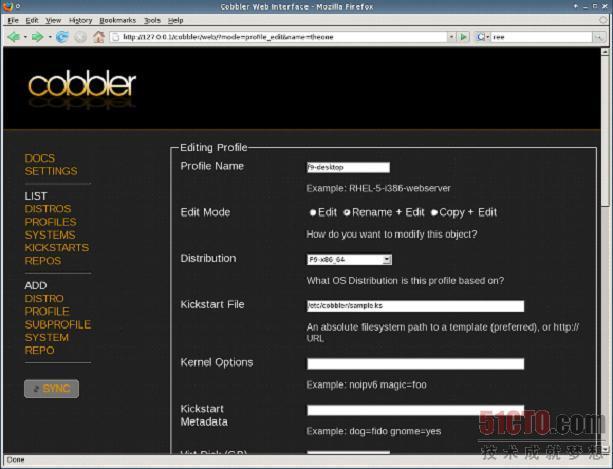 Cobbler WebUI
