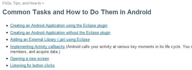 如何开发Android中的常用任务