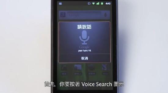 Voice Search显示