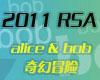 RSA大会是信息安全界最有影响力的业界盛会之一。USA 2011 RSA大会在旧金山举行,此次大会的主题是alice & b