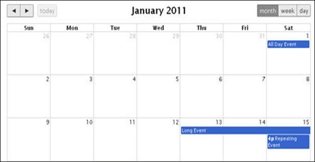 jQuery日历和日期选取插件
