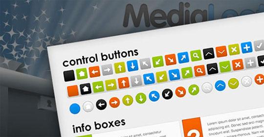 海量的网页UI按钮