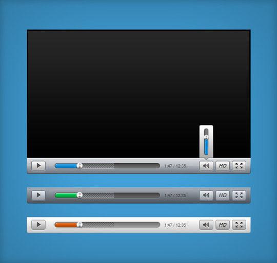 圆滑的视频播放器UI