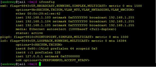 通过ifconfig 观察下网卡的IP