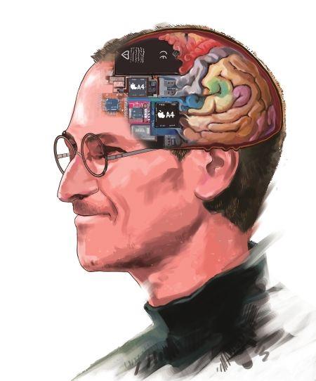 乔布斯的天才大脑为这个世界打开一扇窗绘图姜宣凭