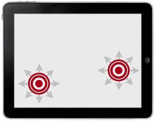 图:动态控制:玩家接触零屏幕任意一点均可形成VJR