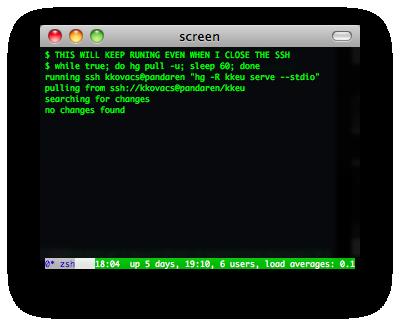screen, dtach, tmux, byobu