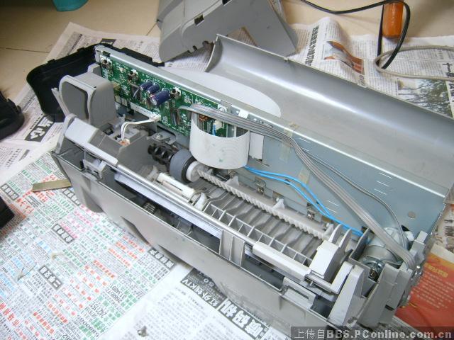 图解拆机清洗ip1000废墨清零
