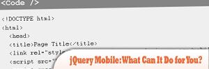 jQuery Mobile:我能为你做些什么?
