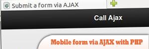 通过AJAX和PHP,提交jQuery Mobile表单