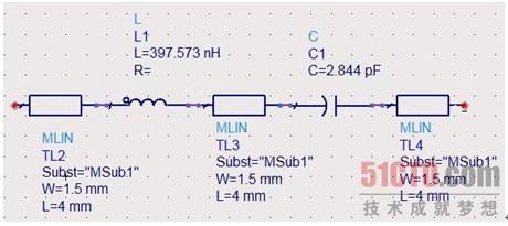 集总参数带通滤波器的仿真(1)