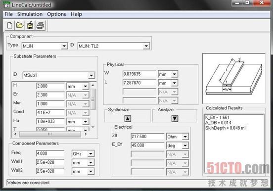 微带短截线低通滤波器原理图的仿真(2)