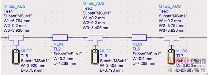 (7)单击工具栏中的 按钮,对电路调谐进行设置并调谐。单击 按钮后,同时弹出三个窗口,这三个窗口分别是参数调谐窗口【Tune Parameters】、仿真状态窗口和数据显示窗口,这时原理图中的3个调谐传输线还都是初始值,没有被调谐,参数调谐窗口如图11.41所示。 (8)在图11.41所示的参数调谐窗口,保持默认设置状态,然后单击原理图中的传输线TL5,弹出【Instance Tune Parameters】窗口,在该窗口中选中传输线的长度L,说明要对传输线的长度L进行调谐。单击【Instance Tun