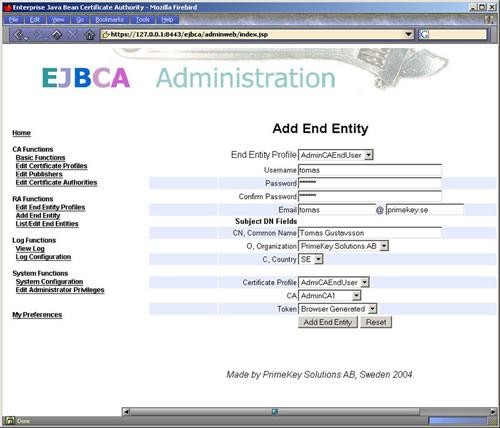 EJBCA 4.0.7发布 CA证书管理