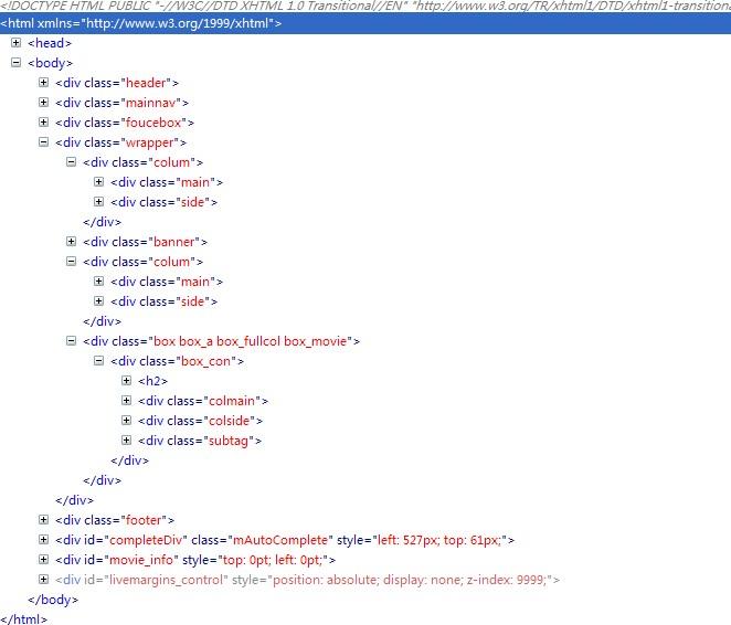 看看HTML4