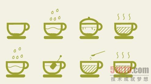 茶书手绘素材