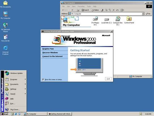取代商业桌面电脑和笔记本上所运行的windows 95,windows 98和windows图片