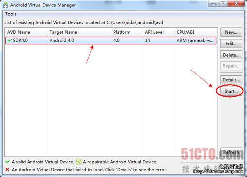 点击上面新建的虚拟机名称,再点击右边的Start按钮