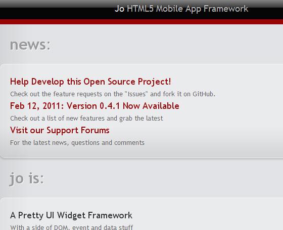 Jo App Framework