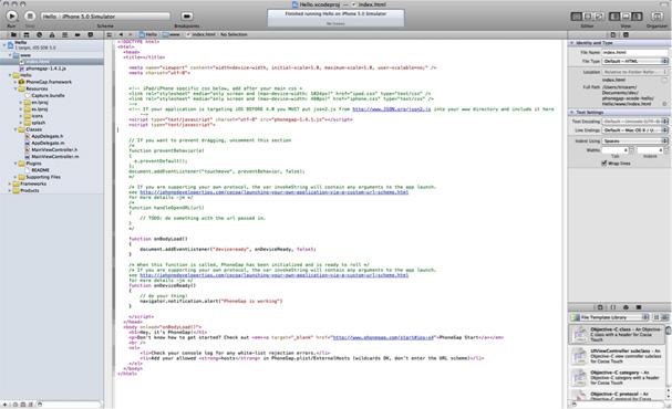 图14. Xcode编辑器