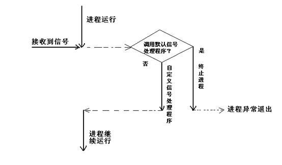 图 1. 默认信号处理程序终止进程运行