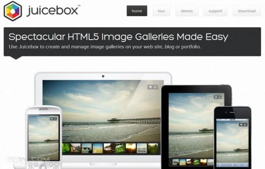 基于HTML5的超酷图片画廊 -Juicebox Lite