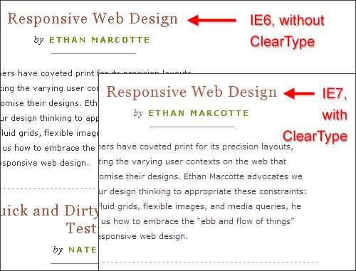 Cleartype-ie in The Principles Of Cross-Browser CSS Coding