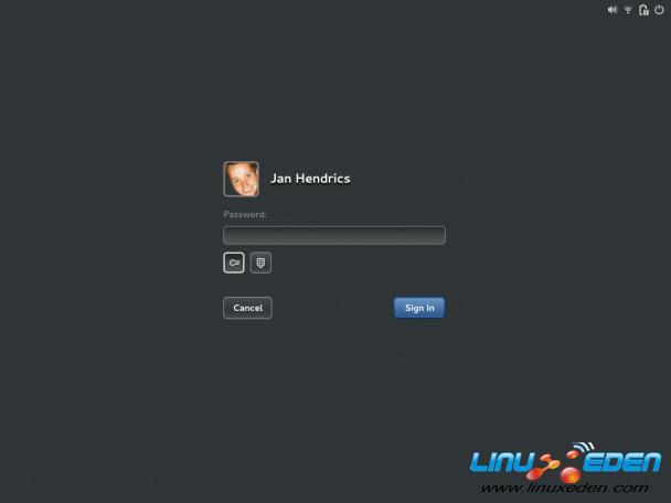 是部分原汁原味的gnome3 设计: (gdm)新的登录界面 授权对话框