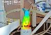 一件配有谷歌光纤吉祥物(一只发光的光纤小兔子)的艺术品