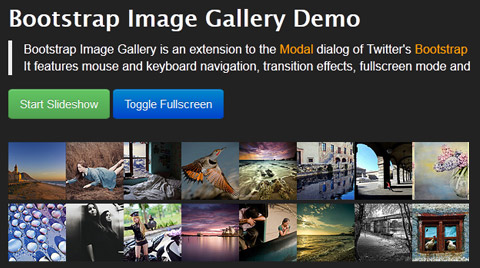 Twitter Bootstrap Image Gallery