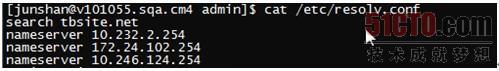 在Linux中下查询DNS Server